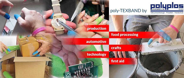 poly-TEXBAND: Hand- und Fingerschutz von POLYPLAS Hameln GmbH